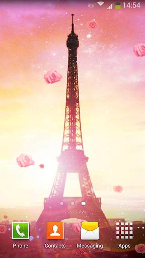 낭만적 인 파리 라이브 배경화면