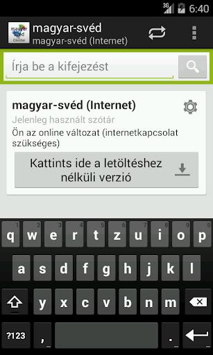 Magyar-Svéd szótár