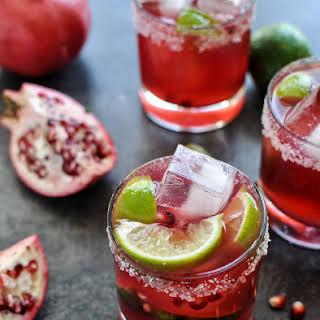 Pomegranate Margaritas.