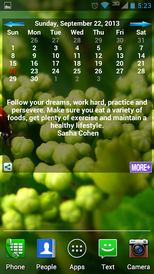 Inspiration Calendar - screenshot