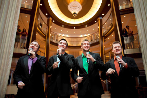 Celebrity_Silhouette_acappella - Snap your fingers to the occasional a cappella quartet you may encounter aboard Celebrity Silhouette