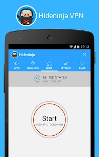 Hideninja: VPN for Android- screenshot thumbnail
