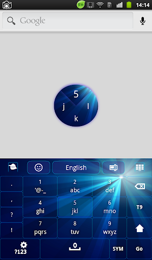 【免費個人化App】Blue Galaxy Keyboard-APP點子
