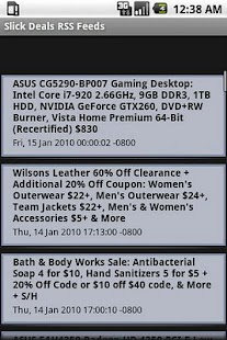 Slick Deals RSS Feed - screenshot thumbnail