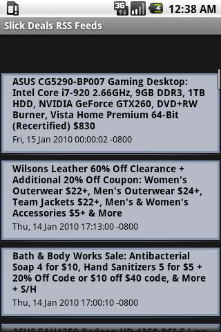 Slick Deals RSS Feed - screenshot