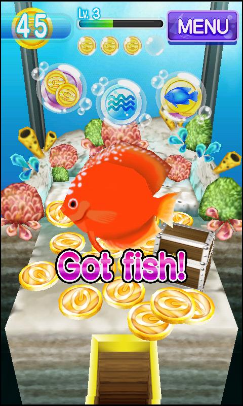 Coin Drop AQUA Dozer Games- screenshot