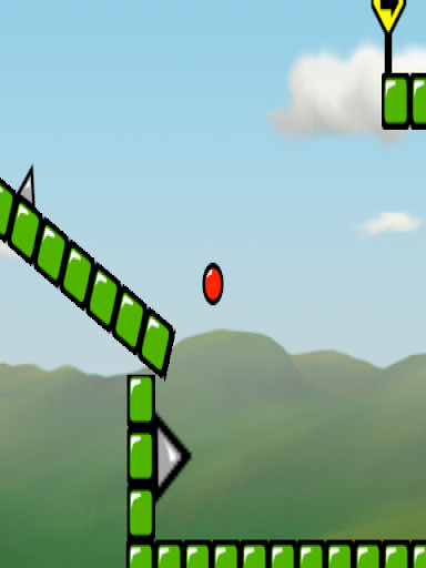 Red Bouncing Ball Spikes HD