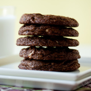 Chewy Chocolate Almond Cookies.