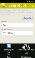 Screenshot of a Friend Call -Simple Contacts