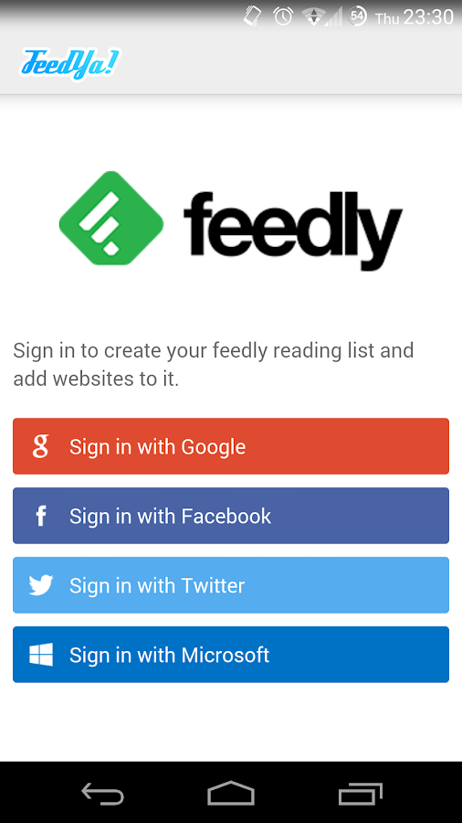Feedya! | RSS News Feedly |- screenshot