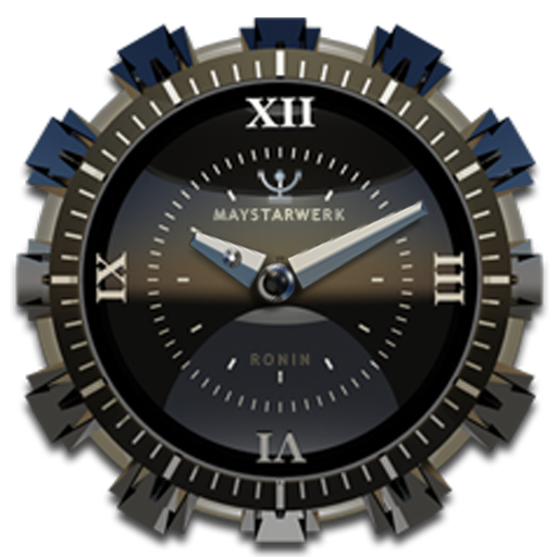 Clock Widget Black Ronin
