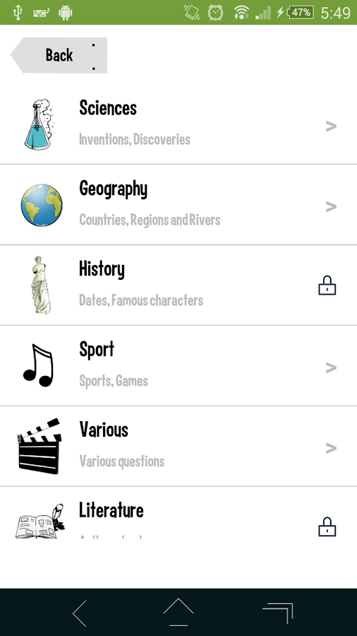 Great Quiz (Trivia game)- screenshot