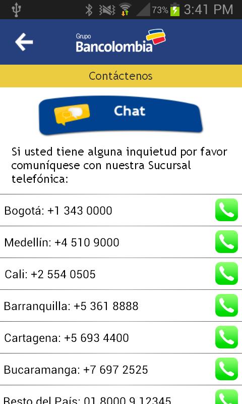 Bancolombia App- screenshot