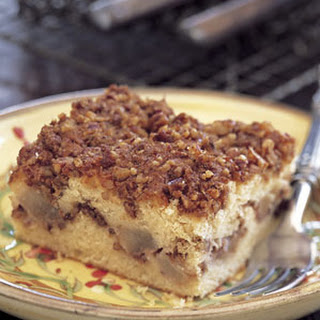 Sour Cream Coffee Cake with Pears and Pecans.