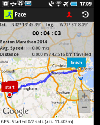 Pace:Marathon Training