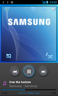 Poweramp TouchWiz Skin Black