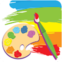 Drawing pad for kids icon