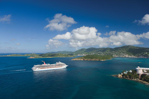 Carnival-Valor-at-sea-2 - Carnival Valor cruises to the Bahamas and throughout the Caribbean.