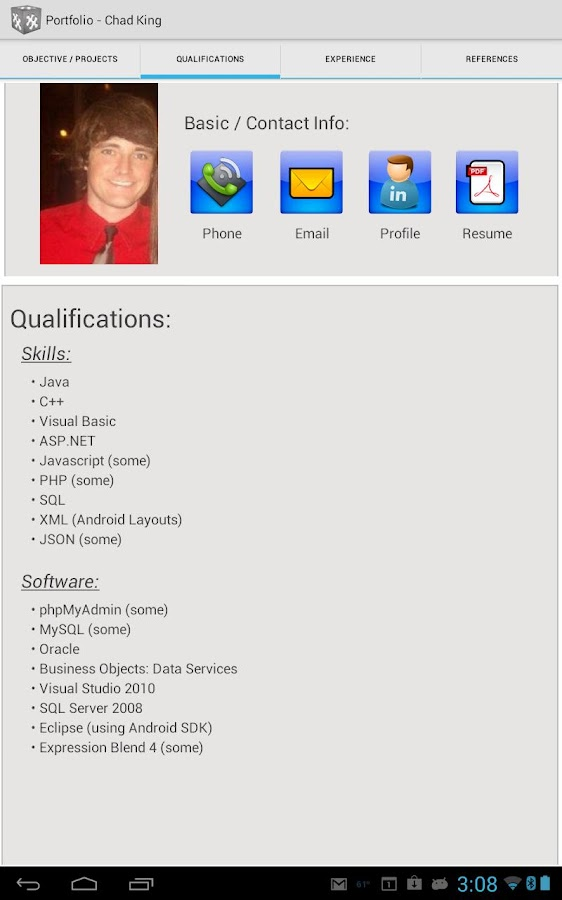 CTK Resume - screenshot