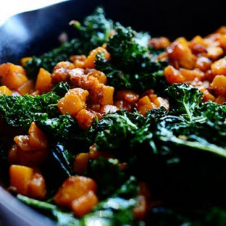 Butternut Squash and Kale.