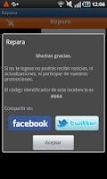 Screenshot of ReparaCiudad