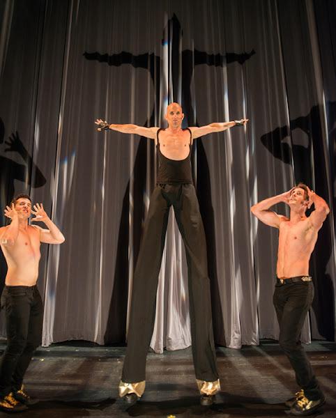 <p> (from L to R) Dustin Freeland, Neezar and Ian Rozylo in <em>Broken Sex Doll.</em>Scott Munn photo.</p>