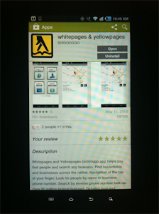 Whitepages Yellowpages screenshot 4