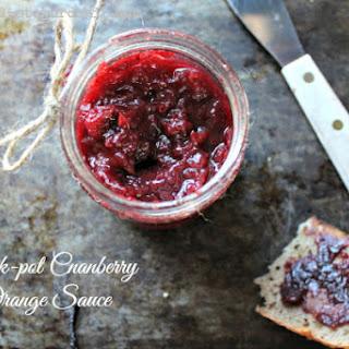 Easy Crock-pot Cranberry Orange Sauce