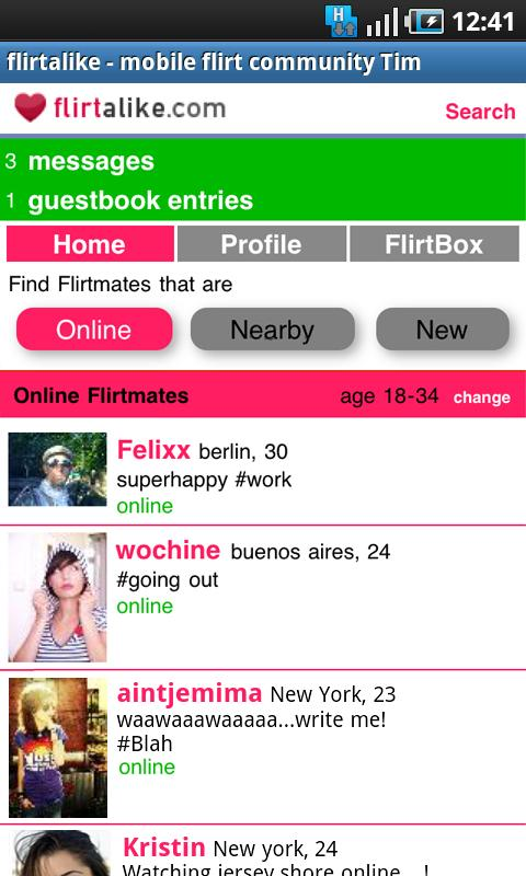 Flirtalike - flirt chat dating- screenshot