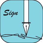 Sign your work document icon