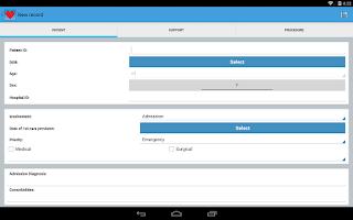 Screenshot of Intensive Care Logbook