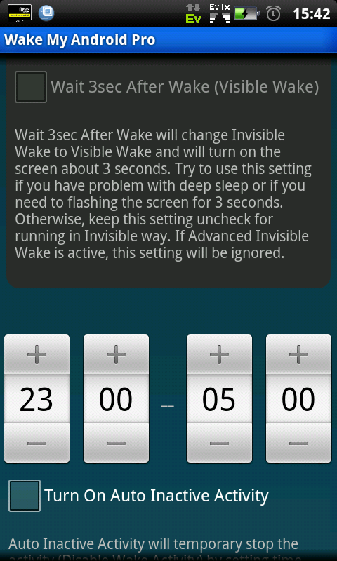 Wake My Android Pro (free) - screenshot