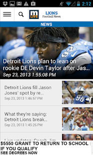 MLive.com: Detroit Lions News - screenshot thumbnail