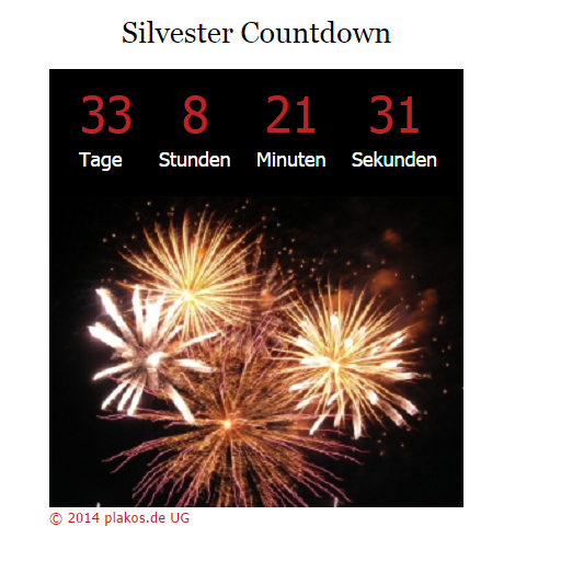 silvester countdown whatsapp