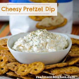 Cheesy Pretzel Dip.