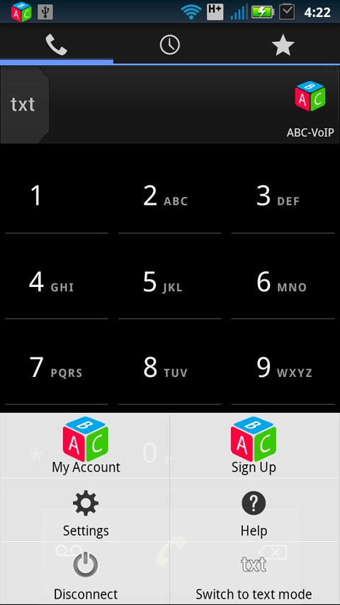 ABC-VoIP SIP - screenshot