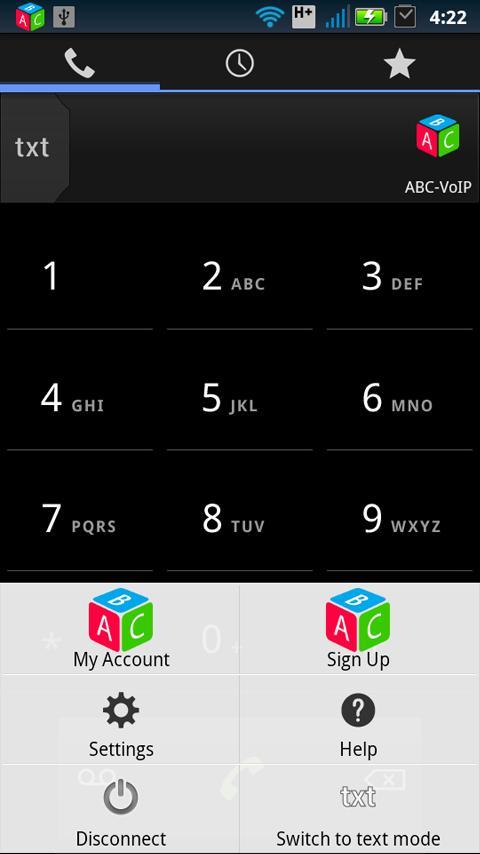 ABC-VoIP SIP phone dialer- screenshot