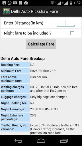 Delhi Auto Rickshaw Fare