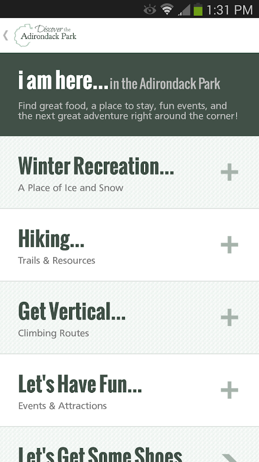 Discover the Adirondack Park - screenshot