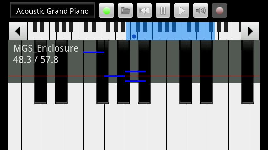 xPiano- screenshot