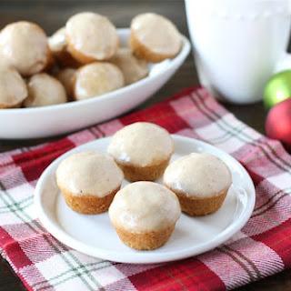 Mini Eggnog Doughnut Muffins