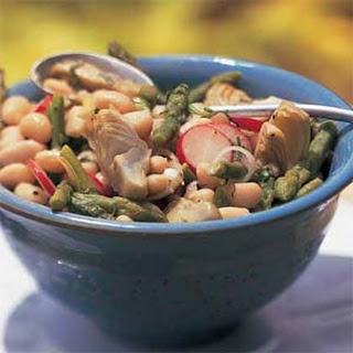 White Bean Salad with Asparagus and Artichokes