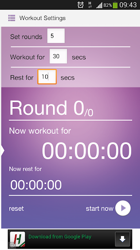 HIIT Exercise Workout Timer