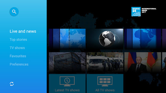 FRANCE 24 - Android TV- screenshot thumbnail