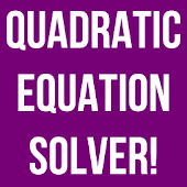 Quadratic Solver Exact Answer