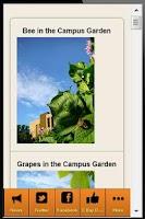 Screenshot of Campus Food News