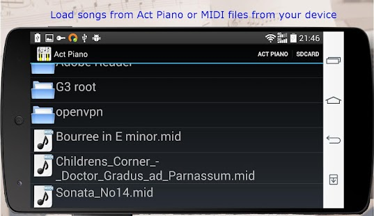 Act Piano :notation midi score - screenshot thumbnail