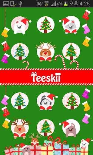 Teeskii Winter X-mas 카카오톡 테마