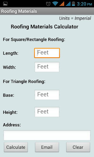 Roofing Materials Calculator