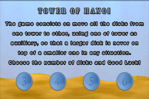 Tower of Hanoi - screenshot